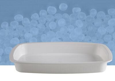 Vaschetta ovale da 1 kg bianca