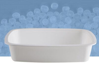 Vaschetta ovale da 2 kg bianca