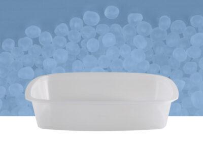 Vaschetta ovale da 2 kg trasparente