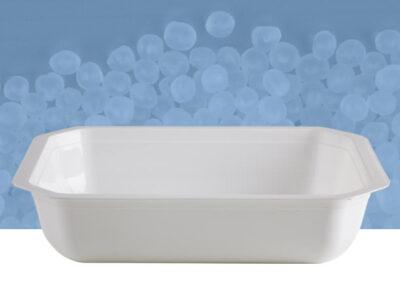 Vaschetta poligonale da 2 kg bianca